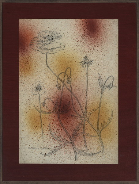 Kathleen-Guthrie: Poppies-with-blow-paint